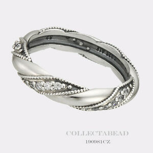 9358a650b Authentic Pandora Sterling Silver Ribbon of Love CZ Ring 190981CZ-54 ...