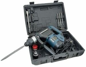 1-1-2-034-SDS-Rotary-Hammer-Drill-Kit-Concrete-Demolition-Tool-1-5-034-w-Bits-amp-Case
