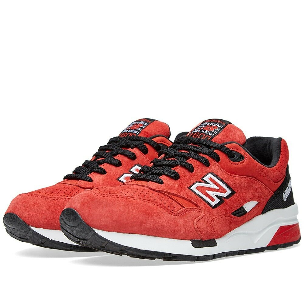 NIB New Balance MENS CM1600RB ELITE EDITION 1600 BLACK RED LIFESTYLE SNEAKERS