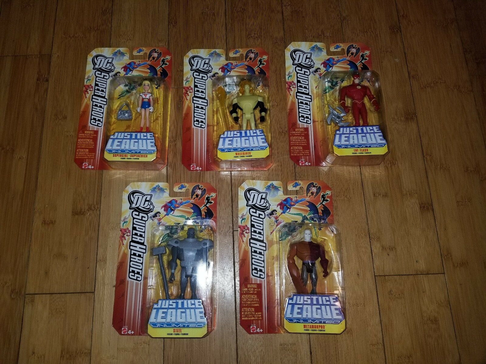 DC Super Heroes Justice League Unlimited Action Figure Lot 5- Flash Supergirl 2A