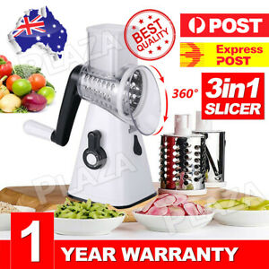 AU-Kitchen-Multifunction-Vegetable-Food-Manual-Rotary-Drum-Grater-Chopper-Slicer