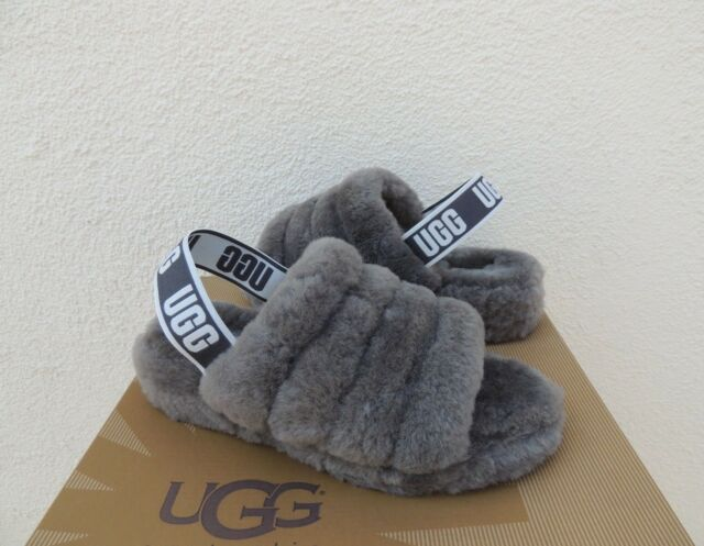 06e627789c9 UGG Bodacious Fluff Yeah Slide Sheepskin SLIPPER Sandals US 9/ EUR 40
