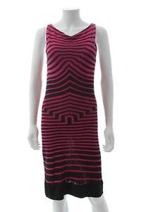 Alexander-McQueen-Striped-Jersey-Knit-Dress-Raspberry-Black-RRP-1-200-00