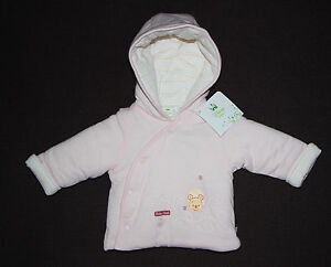 DISNEY-BABY-manteau-blouson-bebe-rose-WINNIE-THE-POOH-taille-3-6-mois-neuf