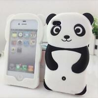 3D Panda Soft Silicone Protective Back phone Case Cover Skin For iPhone4 4S 5 5S