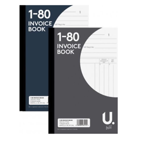 Invoice  Receipt Book Numbered Cash 1-80 Pages Pad with 2 carbon papers