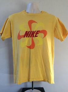 200424b33dda Vtg Early 80s Nike Pinwheel Logo T-Shirt Yellow L Swoosh Orange Tag ...