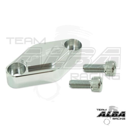 Honda TRX 450R TRX450R  Parking Brake Blockoff Plate  Block off Plate  Silver