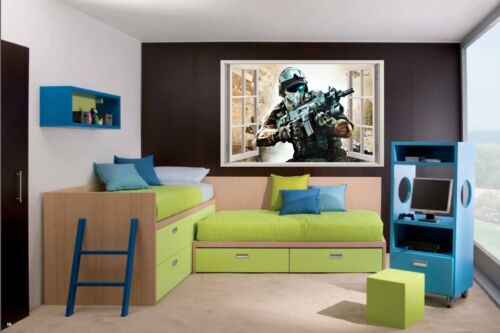 3D Effect Window GHOST RECON WALL STICKERS decorative sticker Call of Duty 70