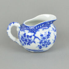 Milchkännchen Japan Tokusei Kirschblüte 50er / japanisches Porzellan / blau weiß