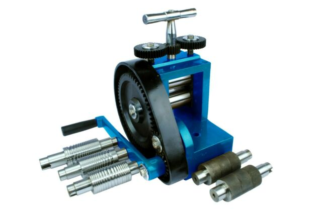 Jewellers Budget Mini Rolling Mill with 7 Rolls 76mm x 43mm. J1140