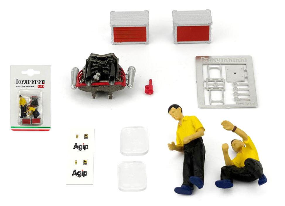 Brumm F092 Ferrari Ferrari Ferrari Pit Crew meccanica (MOTORE DIORAMA SET) - SCALA 1 43 3811bb