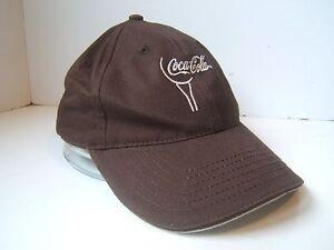 848d3e6137e99 Brown Coca Cola Script Hat Coke Soda Pop Strapback Baseball Cap