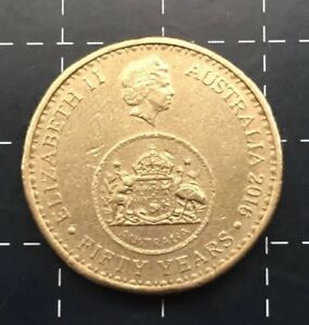 2016-AUSTRALIAN-1-ONE-DOLLAR-COIN-50-YEARS-OF-DECIMAL-CURRENCY-LOW-MINTAGE