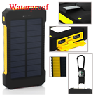 Powernews 900,000mAh Solar Power Slim Portable Battery Charger