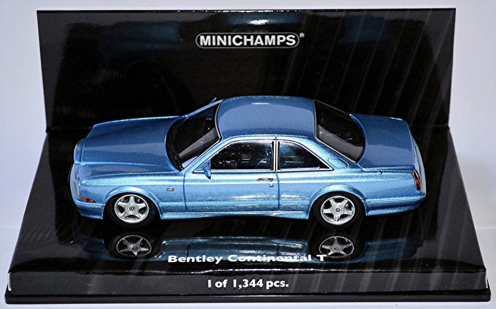 Bentley Continental T 1991-2002 Blu Mettuttiico 1 43 minichamps Lim.ed. 1,344