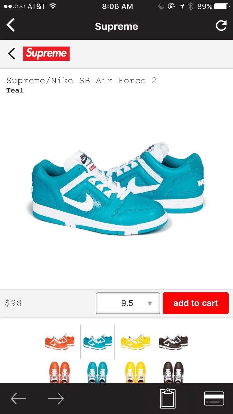 Supreme X Nike Air Force 2 Cheap and beautiful fashion