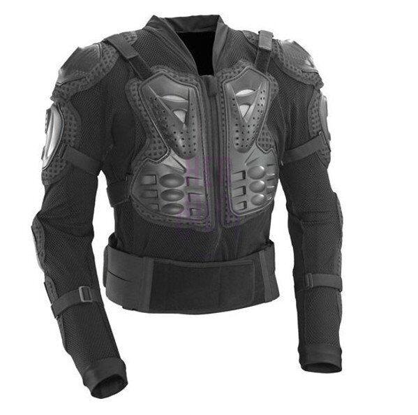 Motorcycle Armor Black Armour Jacket Body Guard Bike & Motocross Gear Black