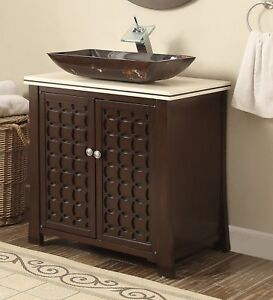 Details About 30 Benton Collection Décor Style Vessel Sink Giovanni Bathroom Vanity Hf339a