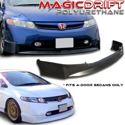 NEW HFP VIP Front Bumper Lip Urethane Plastic for 06-08 Honda Civic 4DR Sedan
