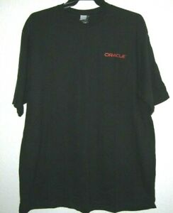 ORACLE-Black-Cotton-Short-Sleeve-Basic-Crew-Neck-Solid-T-Tee-Shirt-Men-039-s-XL-NWT