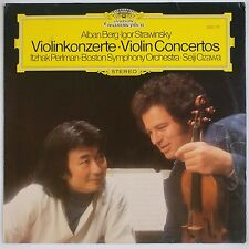 BERG, STRAVINSKY: Violin Concertos Itzhak Perlman Ozawa DGG Germany 2531 110 LP