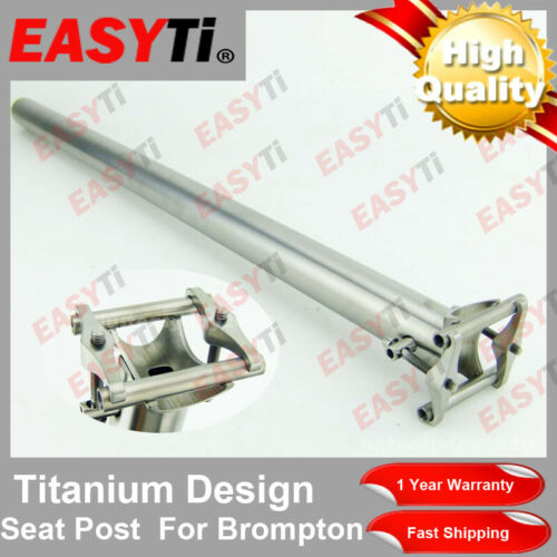 Ultra Light Easy Ti High Quality Titanium Bicycle Seatpost 31.8mm-for Brompton
