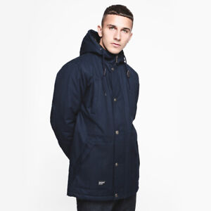 Navy Mens Parka Coat