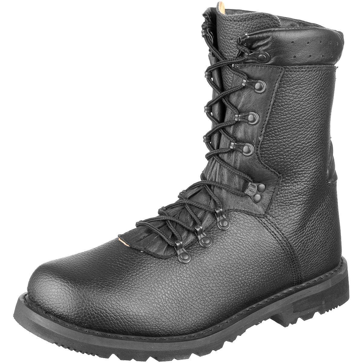 Brandit Bw 2000 Bundeswehr Kampf Stiefel Modell 2000 Bw Leder Militär Schuhe Schwarz 1835b7