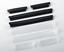 4x FIAT Porte Bord Collision /& Scratch Protecteur White Trim Strip Set