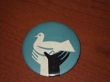 Black & White w Dove Official Emblem Peace March April 27 1968 Pinback Button