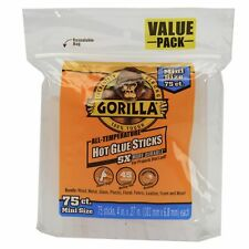 Gorilla 3027502 Hot Glue Sticks 4 in Mini Size 75count