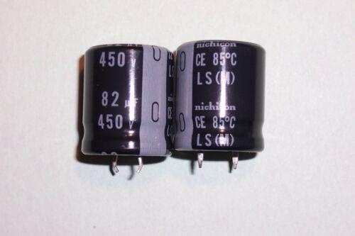 82uF 450 V 85oC Condensateur électrolytique Radial Snap In New Nichicon pièces Qté 2
