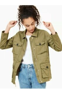 Timberland field jacket Size M Green military inspired style RRP £180,00