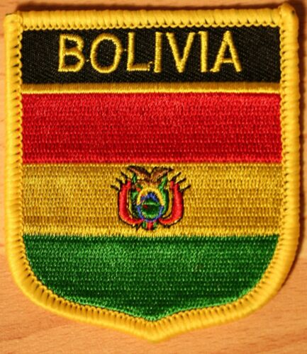 Bolivia Shield Country Flag Embroidered PATCH Badge P1