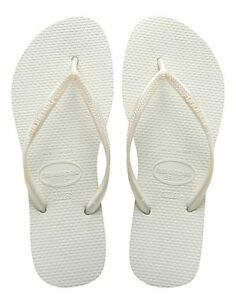 770764a70 Havaianas Women`s Flip Flops Slim Style Sexy White Brazilian Sandal ...