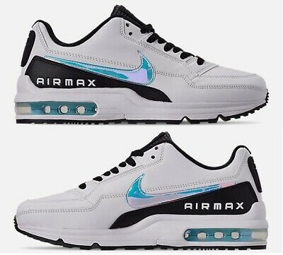 nouveau produit 2a7b9 8d56e NIKE AIR MAX LTD 3 MEN's WHITE - BLUE GAZE - BLACK LEATHER CASUAL NEW IN  BOX SZ | eBay