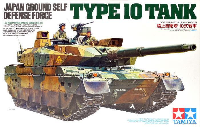 KIT TAMIYA 1:35 CARRO ARMATO JAPAN GROUND DEFENSE FORCE TYPE 10 TANK  art. 35329