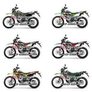 Kawasaki KLX BF Custom Sticker Graphic Decals Kits EBay - Motorcycle bumper custom stickers