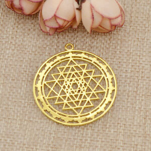 1pc sri yantra sacred geometry pendant diy necklace prosperity image is loading 1pc sri yantra sacred geometry pendant diy necklace aloadofball Gallery