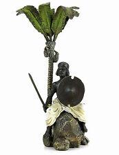 Orientalische Wiener Bronze Araberkrieger unter Palme gestempelt & handbemalt