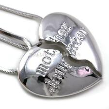 Mother daughter necklace mom silver pendant jewelry mothers day gift item 8 mothers day gift mom mother daughter heart pendant necklace charm silver tone mothers day gift mom mother daughter heart pendant necklace charm aloadofball Choice Image