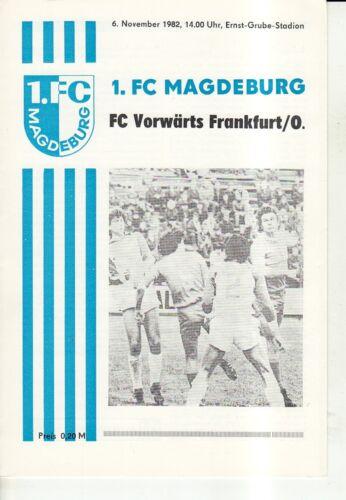 OL 82//83  1 FC Vorwärts Frankfurt//O. FC Magdeburg