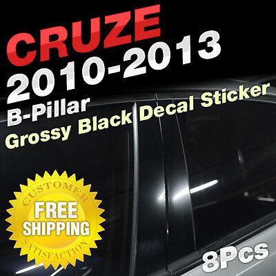 Carbon Black B+C Pillar Post Decal Molding Sticker 8P For BUICK 2008-16 Enclave