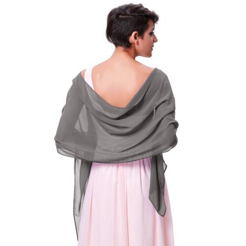 80X 18 Chiffon Braut Damen Hochzeit Abendkleid Schal Schal Wrap Halstuch