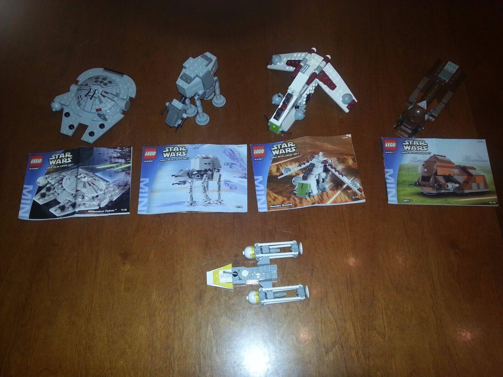 LEGO STAR WARS 4488-4489-4490-4491 MINI