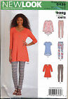 NEW LOOK SEWING PATTERN 6439 MISSES SZ 6-24 EASY TUNICS & LEGGINGS IN PLUS SIZES