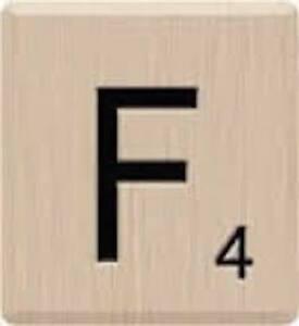 10 Letter F, Beautiful Scrabble Tiles Letters, Individual ...
