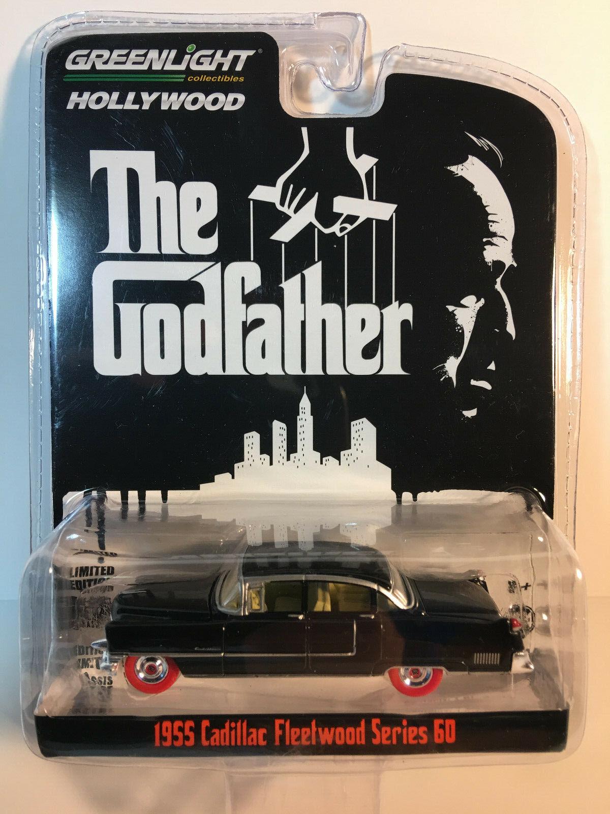 grönljus super Chase Hollyträ Godfather 1955 Cadillac Fleetträ röda däck