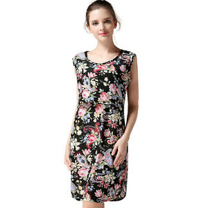 62ec18744b66 Details about Floral Maternity Dresses For Pregnant Women Summer  Breastfeeding Nursing Dress